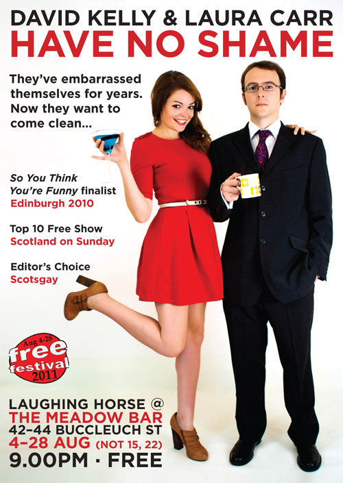 David Kelly Laura Carr Have No Shame comedy Edinburgh Fringe 2011