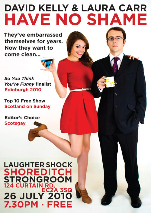 David Kelly and Laura Carr comedy Edinburgh Fringe London